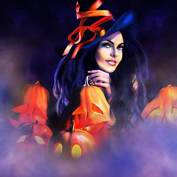 Jack-O-Lantern Witch by indigocrow