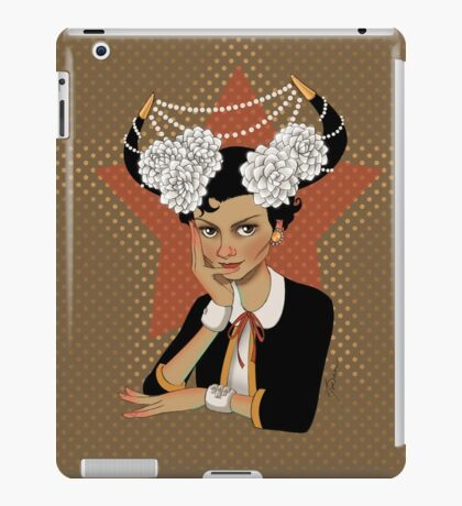 Chanel: the Little Black Bull  iPad Case/Skin