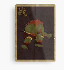 FIGHT: Street Fighter #2: Blanka Metal Print