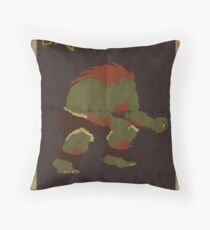 FIGHT: Street Fighter #2: Blanka Throw Pillow