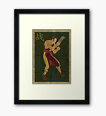 FIGHT: Street Fighter #2: Vega Framed Print