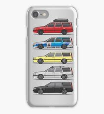 Stack of Volvo 850R 855R T5 Turbo Station Wagons iPhone Case/Skin