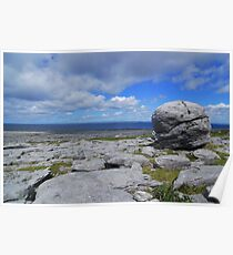 The Burren landscape Poster