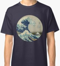 Great Wave off Kanagawa circle Classic T-Shirt