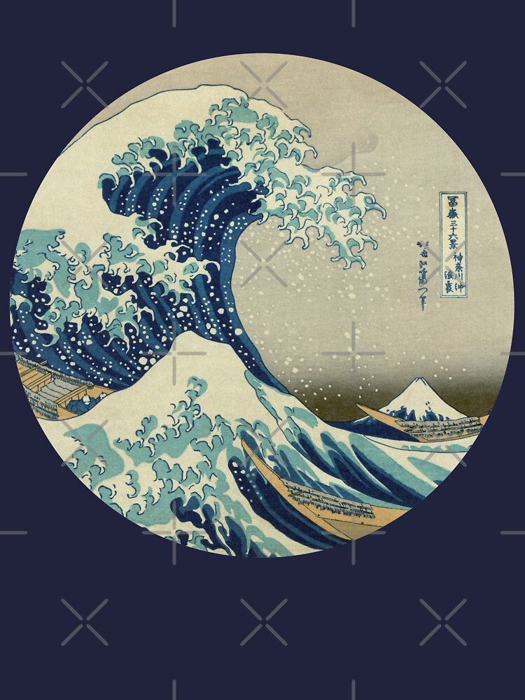 Great Wave off Kanagawa circle by monsterplanet