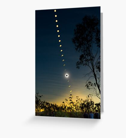 Solar Eclipse Composite 2012 Greeting Card