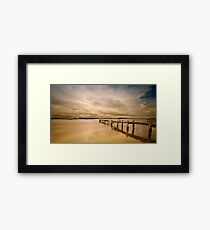 Broken Jetty 01 Framed Print