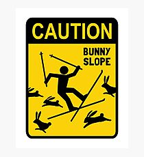 CAUTION: Bunny Slope Photographic Print