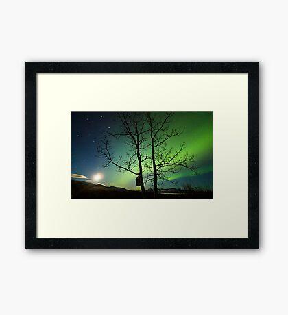 Yukon Northern Lights 2 Framed Print