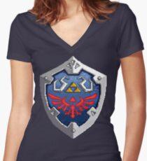 Hylian Shield Women's Fitted V-Neck T-Shirt