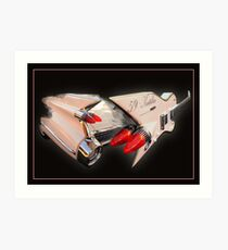 Ali Kat Hand made 1959 Cadillac Guitar Art Print