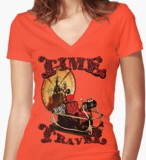 Time Travel Women's Fitted V-Neck T-Shirt