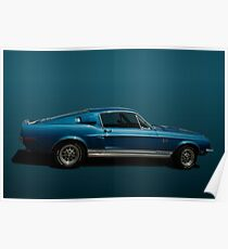 1968 Ford Mustang Shelby Cobra GT500KR Poster