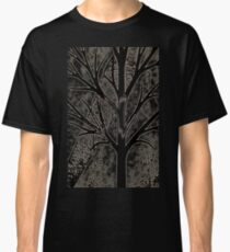 Tree with empty branches in dark cold night  Classic T-Shirt