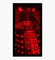 Red Dalek Photographic Print