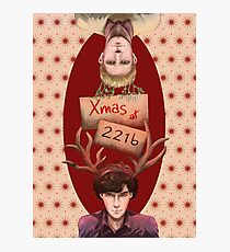 Merry Xmas from 221b Photographic Print