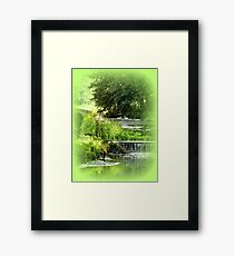 Tranquil Setting with Swans Framed Print