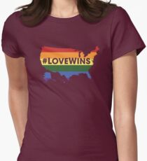 #LoveWins ♥ (NO PROFIT TAKEN!) Womens Fitted T-Shirt