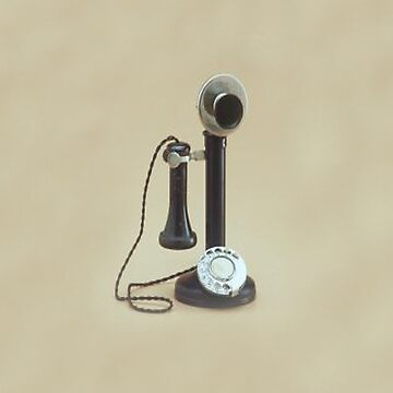 Candlestick Telephone iPhone Case by CatherineV