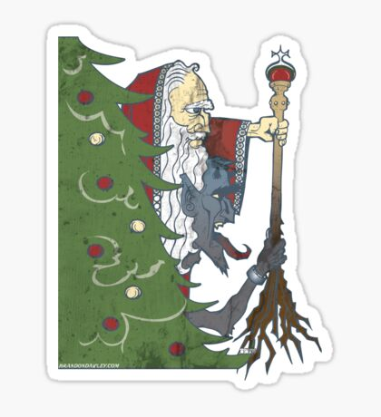 Krampus and St. Nicklaus Sticker