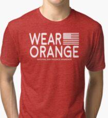 Wear Orange - National Gun Violence Awareness (NO PROFIT TAKEN!) Tri-blend T-Shirt