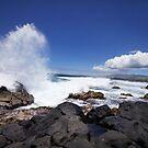 Mauritius - Lava Rock & Waves by mattnnat