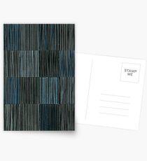 LINEAR 16 Panels BlueBlack Postcards