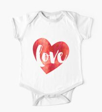 WATERCOLOUR LOVE HEART modern brush script typography Kids Clothes