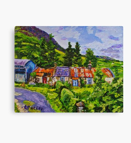Disused Cottages on a Working Farm, Antrim Coast.  Canvas Print
