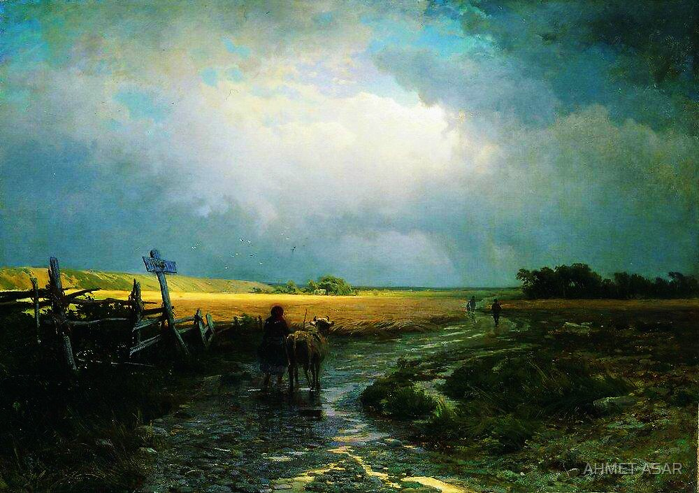 after a rain country road 1869 by MotionAge Media