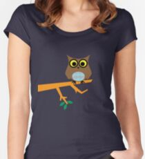 Owl on a Limb Women's Fitted Scoop T-Shirt