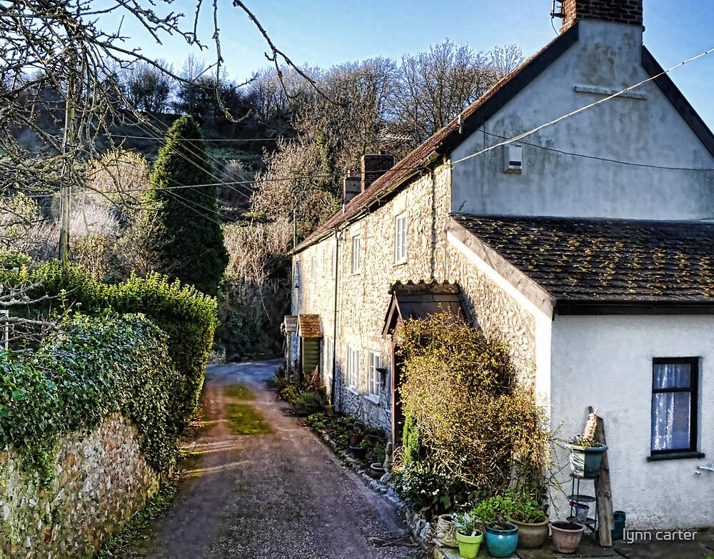 Cottages In Cuckoo Lane, Uplyme, Devon by lynn carter
