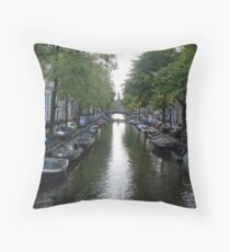 Canal of Mystery Throw Pillow