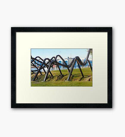 Now That's A Strange Sculpture.. Framed Print