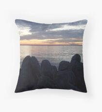 Rocky Silhouettes Throw Pillow