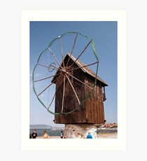Wind Powered Shed Art Print