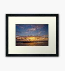 10 December 2012 Sun Rise over Escambia Bay Framed Print