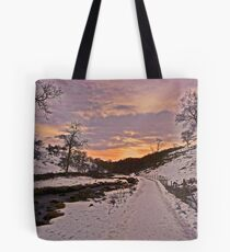 New Year Eve Sunset at Clapham Ghyll Tote Bag