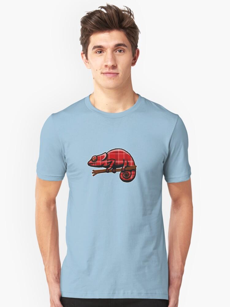 Plaid Chameleon Unisex T-Shirt Front