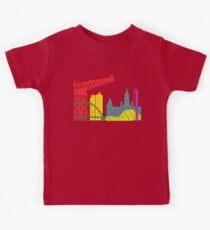 Glasgow skyline pop Kids Tee