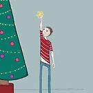 Christmas tree boy by Kate Kingsmill