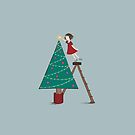 Christmas tree girl by Kate Kingsmill