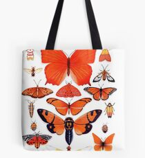 Orange Insect Collection Tote Bag