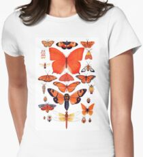 Orange Insect Collection Women's Fitted T-Shirt