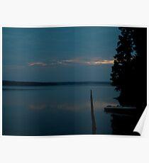 Jordan Lake Sunrise Poster
