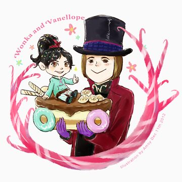 Willy and Vanellope by Amoy