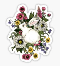Rabbit in Flowers Sticker