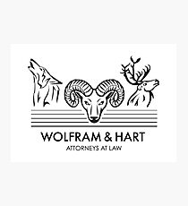 Wolfram & Hart: Attorneys at Law Photographic Print