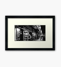 Degraves Espresso Framed Print
