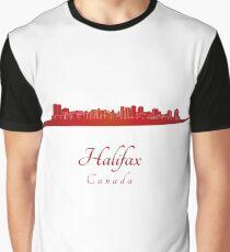 Halifax skyline in red Graphic T-Shirt